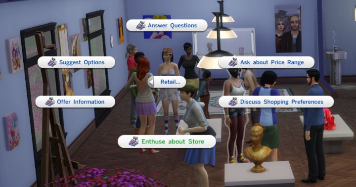 The Sims 4 Get to Work: Retail Interactions