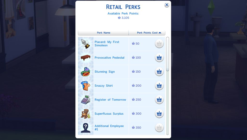 The Sims 4 Get to Work: Retail Perks