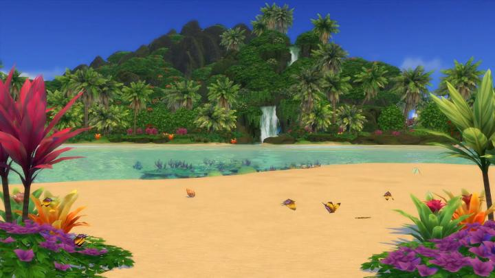 The Sims 4 Island Living: Butterflies on the island.