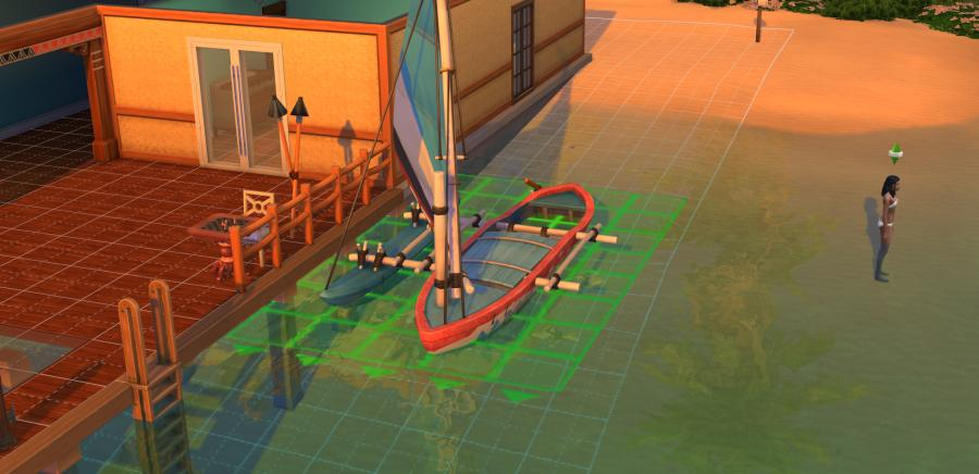 The Sims 4 Island Living: Buying an outrigger boat/canoe for your Sim