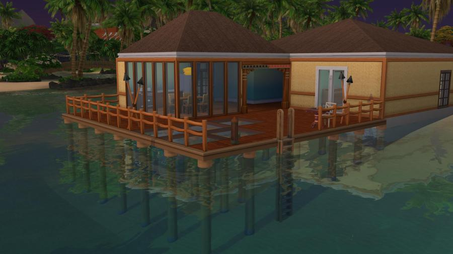 The Sims 4 Island Living: A house with stilt foundations