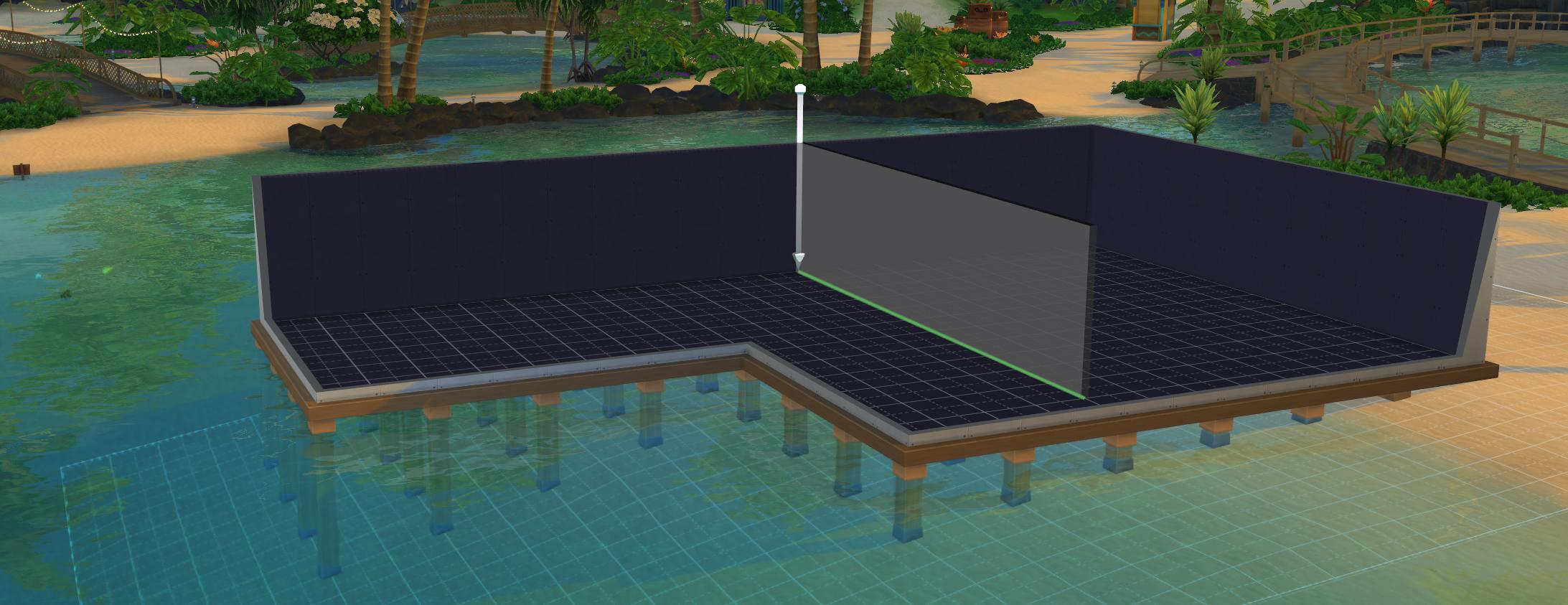 The Sims 4 Island Living: Separate rooms are required for separate foundations on your home build