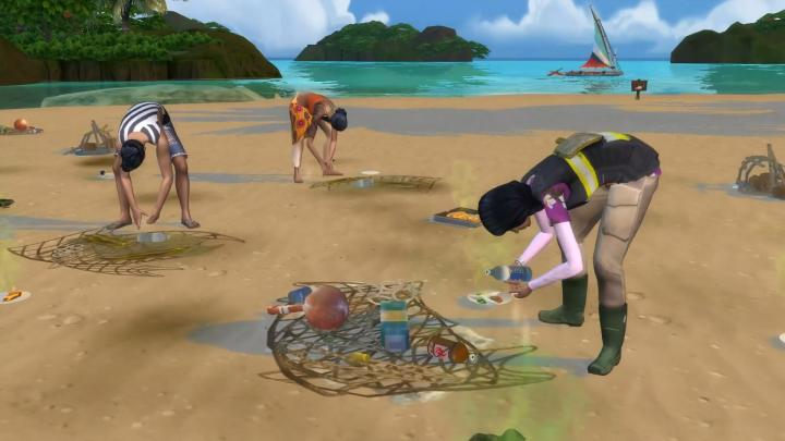 The Sims 4 Island Living Conservationist Career lets you live off cleaning up the environment