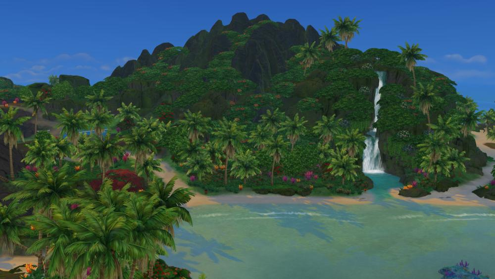 The Sims 4 Island Living: Fully cleaned up environment