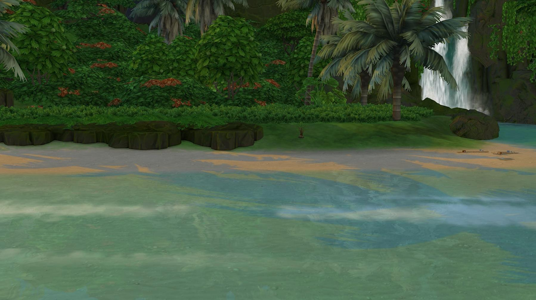The Sims 4 Island Living - The environment is not in great shape due to pollution