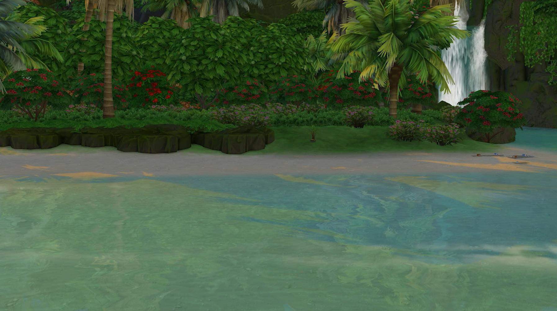 The Sims 4 Island Living - Partially recovered ecology