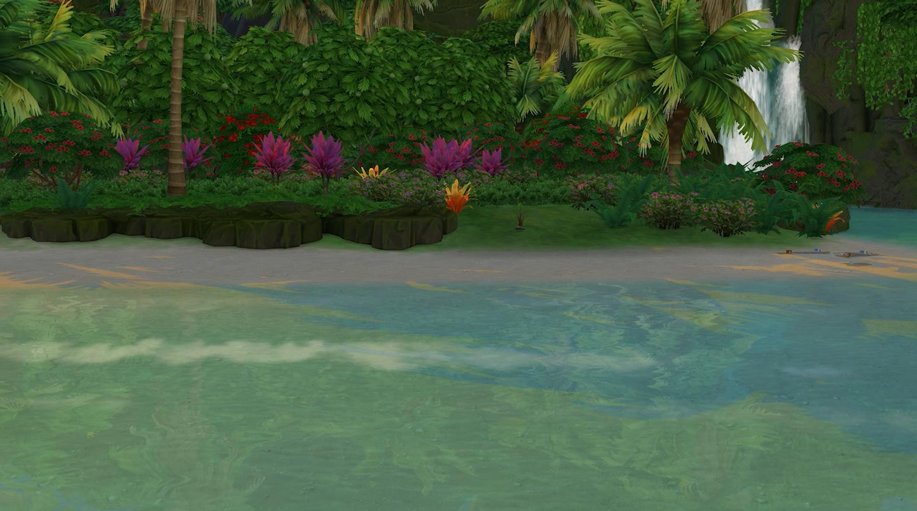 Sims 4 Island Living - Fully restored ecology