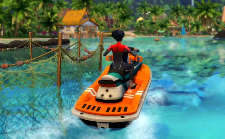 The Sims 4 Island Living jet skis also known as Aqua-zips