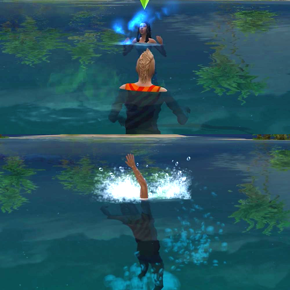 Siren's call is a spell in The Sims 4 Island Living