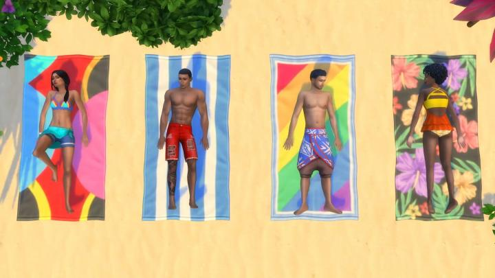 The Sims 4 Island Living - Sunbathing and sun burns