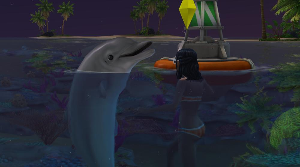 Dolphins in The Sims 4 Island Living Expansion Pack