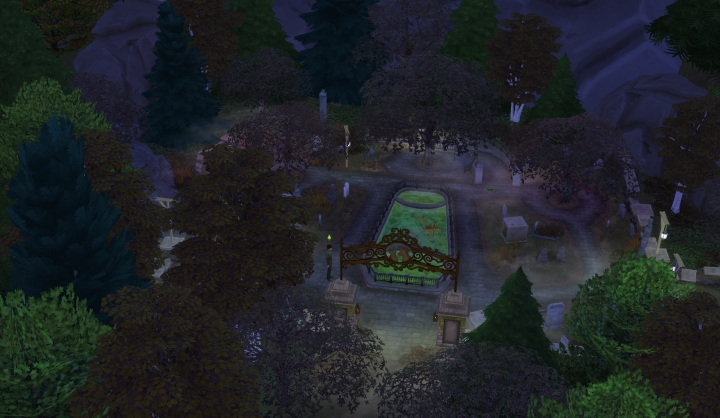 Brindleton Bay Pet Cemetery in the Sims 4 Cats and Dogs Pets Expansion