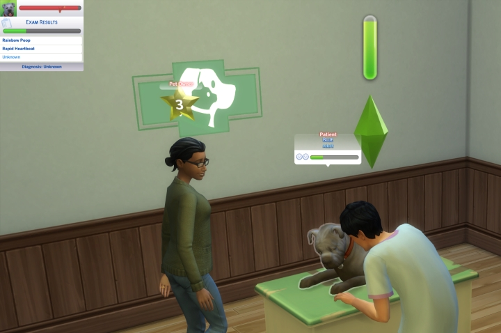 Veterinarian keep animal stress down in the sims 4 cats and  dogs