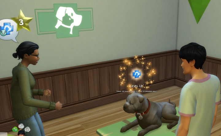 The Sims 4 Veterinarian: owning a clinic