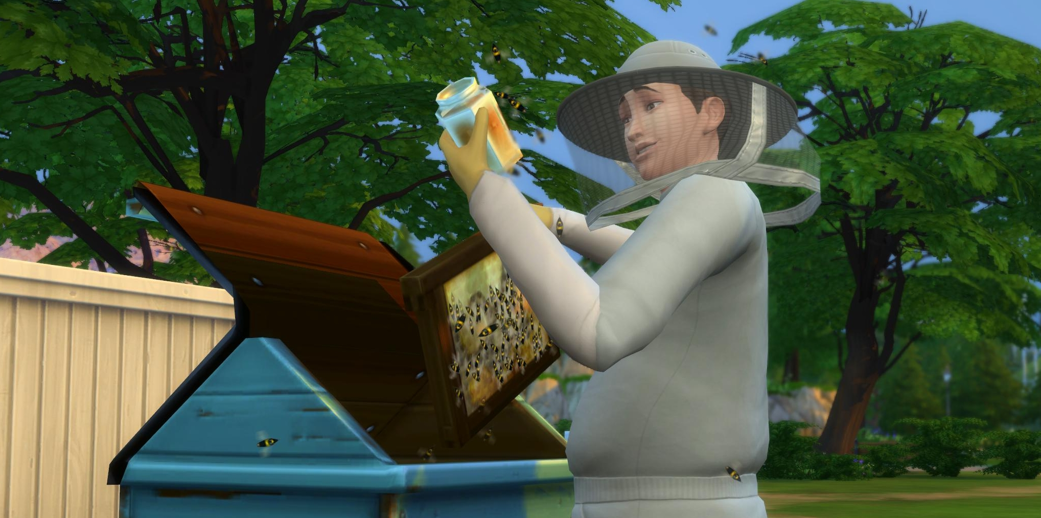 Beekeeping with the Bee Box in The Sims 4 Seasons