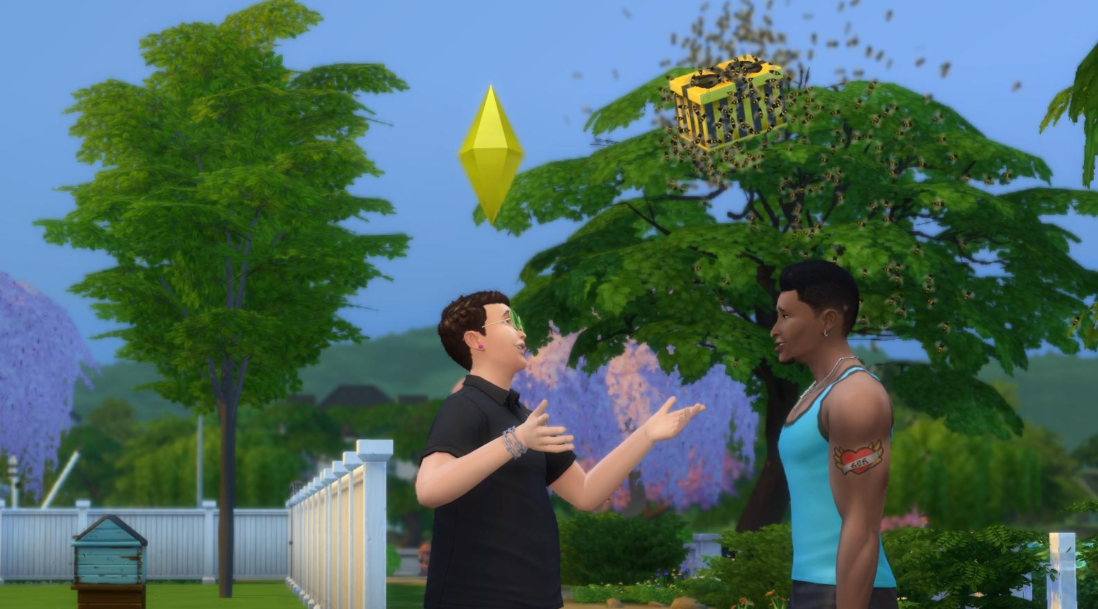 Fetch Gift from a Bee Swarm in The Sims 4 Seasons Expansion Pack