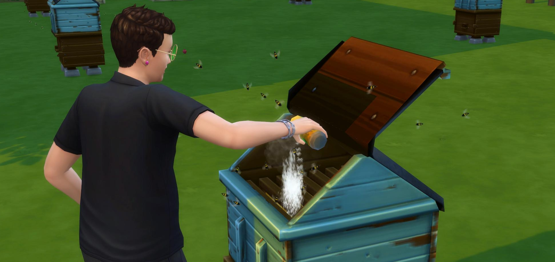 Mite treatment for bees in The Sims 4 Seasons