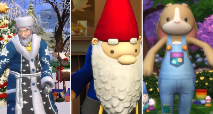 The Sims 4 Seasons: Easter bunny and christmas king
