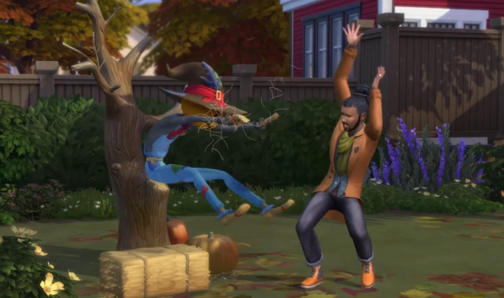 The Sims 4 Seasons: Fall (Autumn) activities and the scarecrow