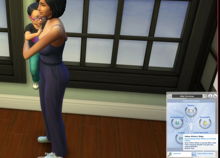 The Sims 4 Seasons: Father Winter's Baby Trait