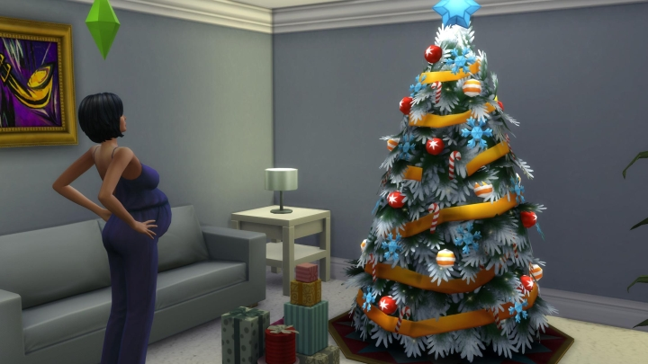 The Sims 4 Seasons: getting pregnant with father winter's baby