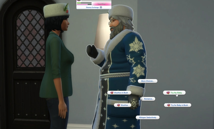 The Sims 4 Seasons: Try for Baby with Father Winter