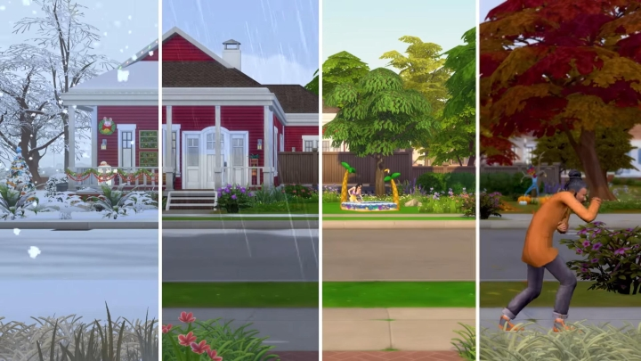 The Sims 4 Seasons: All four seasons have their own weather in the expansion pack
