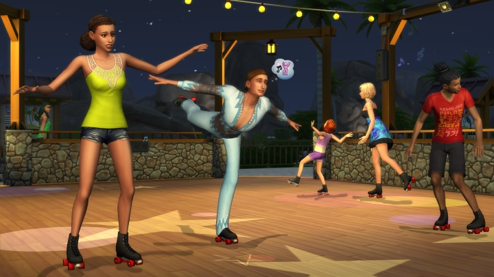 The Sims 4 Seasons: roller skating is a new activity for Sims