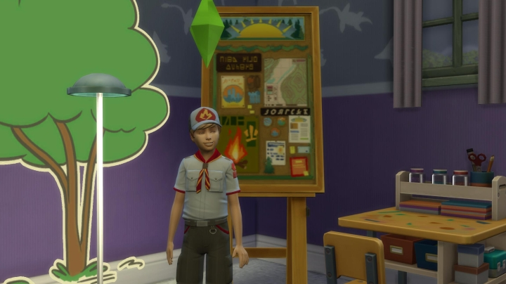 Scout uniform in The Sims 4 Seasons