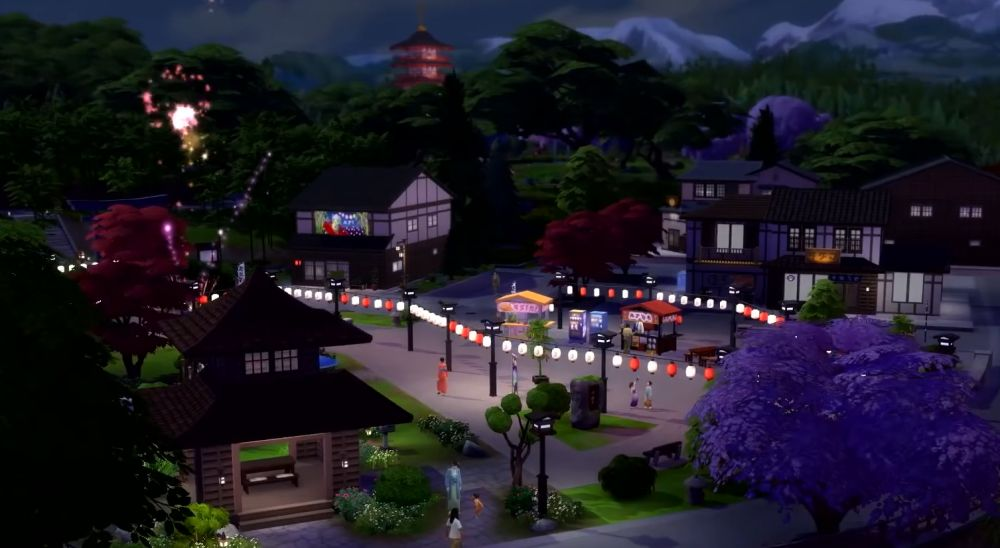 The Sims 4 Snowy Escape Expansion Pack - Festivals make a return in this pack