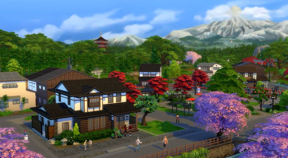 The Sims 4 Snowy Escape Expansion Pack: The new Mount Komorebi location