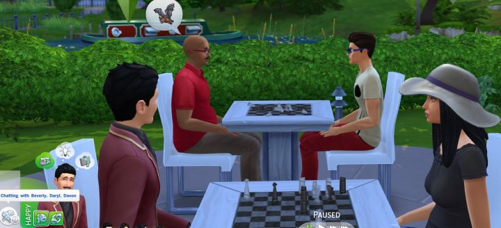 Sims chat in groups in The Sims 4
