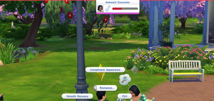 A failed Romance in The Sims 4