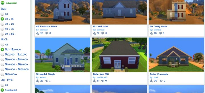 Find a House from the Sims 4 Gallery