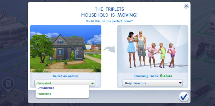 Moving Sims into a home from the Gallery