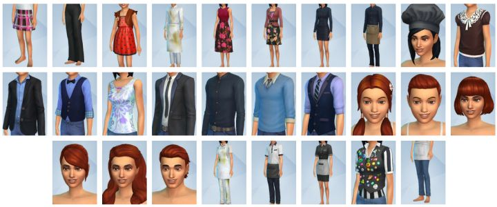 New Create-a-Sim (CAS) hair and clothing in The Sims 4 Dine Out Game Pack