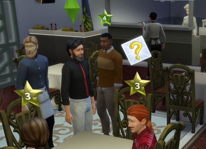 The Sims 4 Dine Out Pack - the curious customers restaurant perk