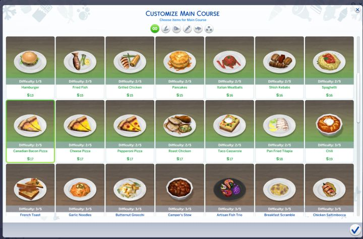 The Sims 4 Dine Out Pack - Customize the menu of the restaurant