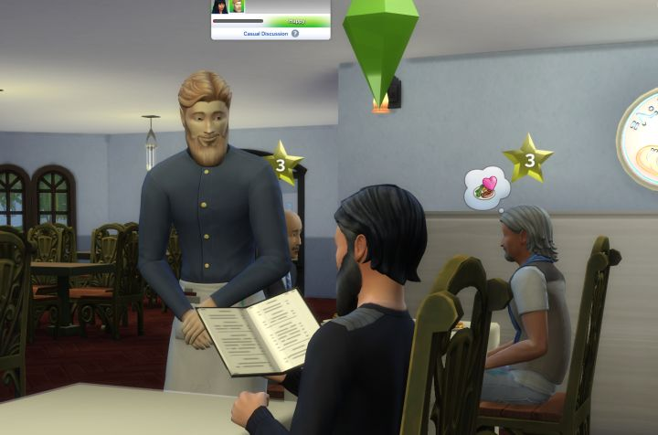 The Sims 4 Dine Out Pack - you can eat at your own restaurant