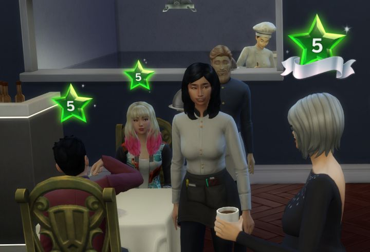 The Sims 4 Dine Out Pack - food bloggers will review your restaurant