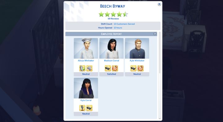The Sims 4 Dine Out Pack - increasing rating to 5 stars