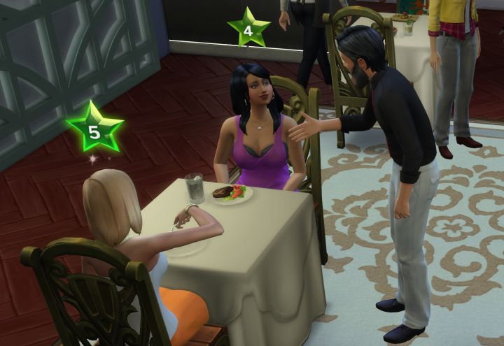 The Sims 4 Dine Out Pack - personal touch rating