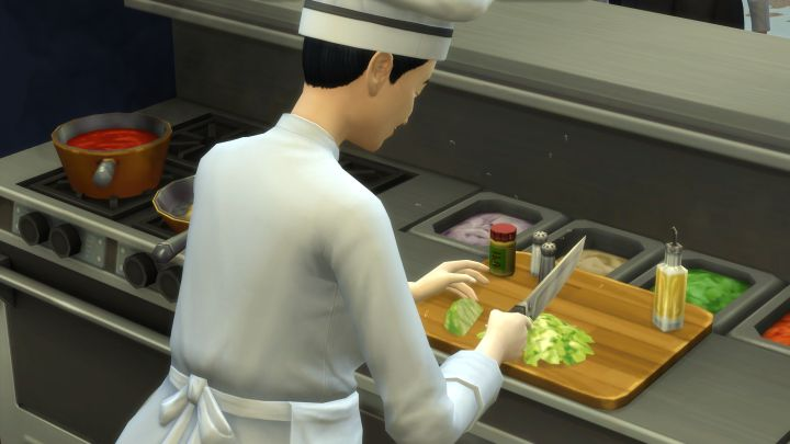 The Sims 4 Dine Out Pack - chefs make the food