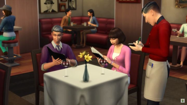 The Sims 4 Dine Out Waiters with flair