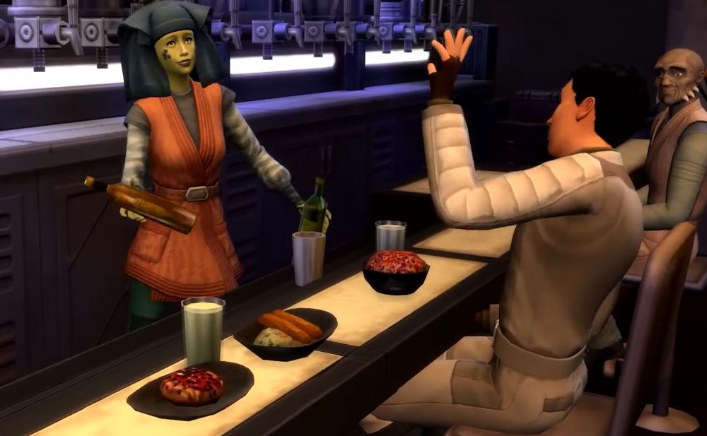 Sims in Sims 4 Star Wars
