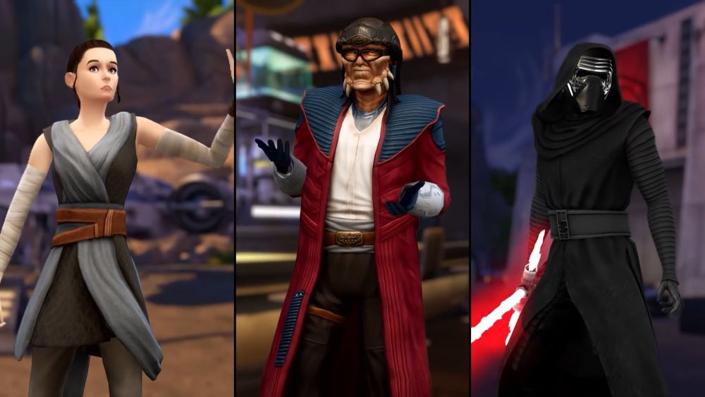 Who are the characters in sims 4 star wars