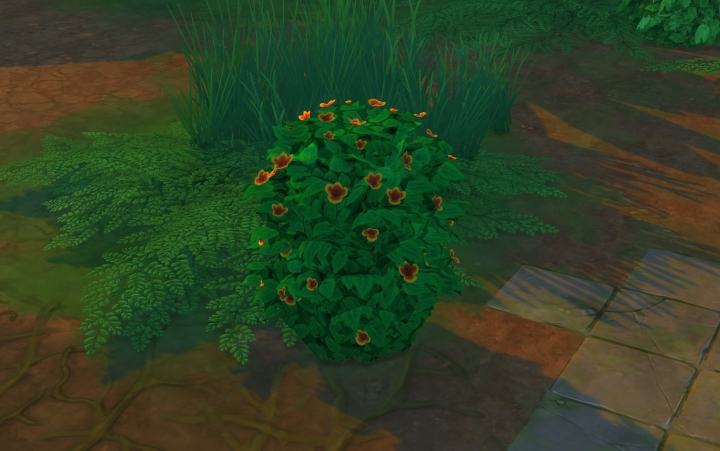 The Sims 4 Jungle Adventure: Ease your Sim's bladder using these bushes. You can also recover energy with a nap.
