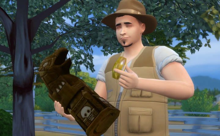 The Sims 4 Jungle Adventure: Refined crystal in relic