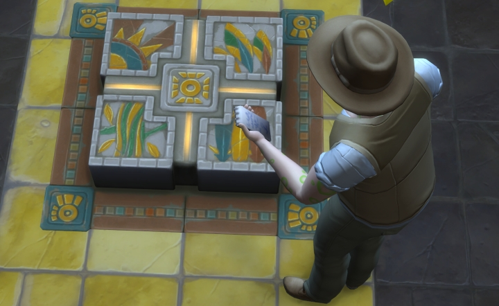 The Sims 4 Jungle Adventure Game Pack: Using Archaeology to analyze a trap