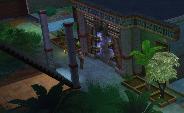 The Sims 4 Jungle Adventure Game Pack: Tree of emotions for emotion traps inside the temple